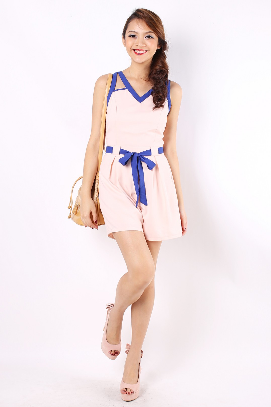 352e9a55638 Jayes Colorblock Romper in Nude - MGP
