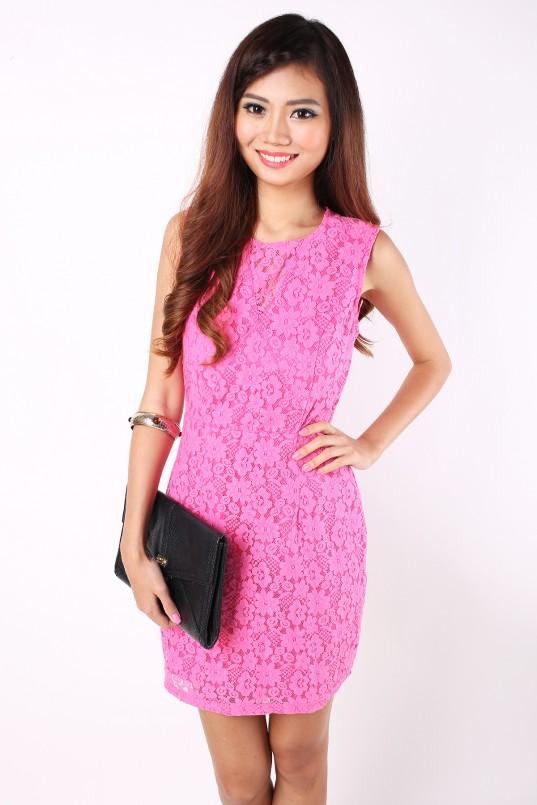 Jovina Dress In Hot Pink Mgp