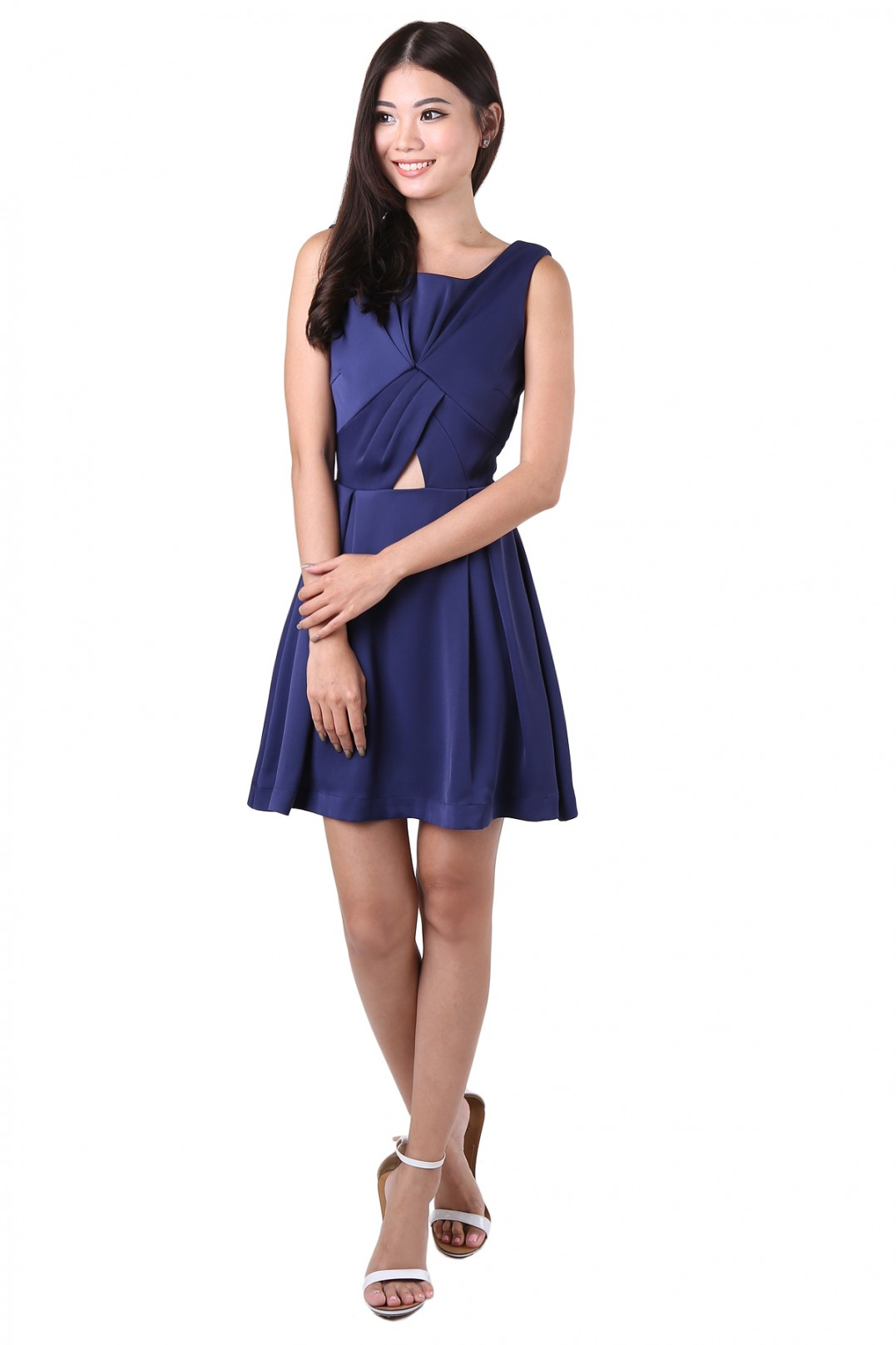 mulberry knot dress in navy
