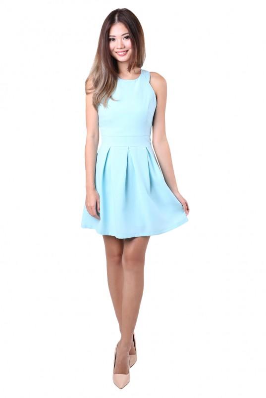 Yuri Flare Dress in Blue 161ce3735