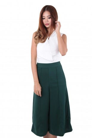 b42b1f34843 Berlin Culottes in Forest Green