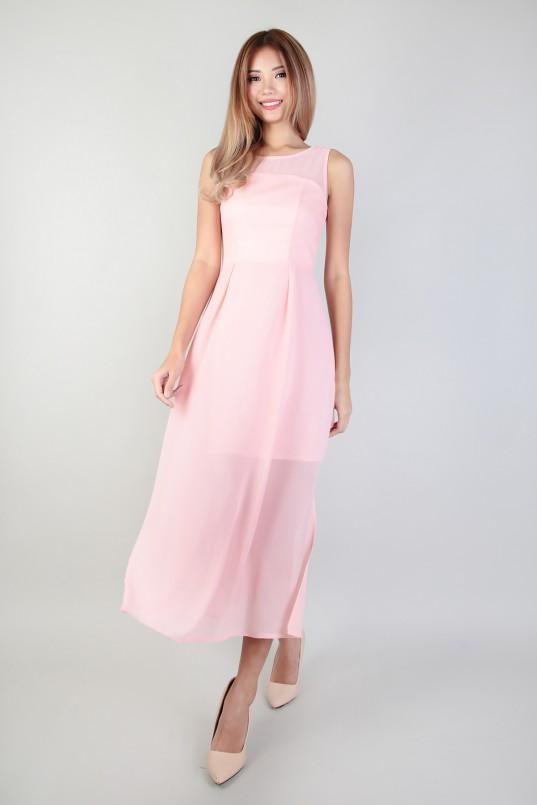 4da2c4d7eeab Ellen Sou Midi Dress in Pink
