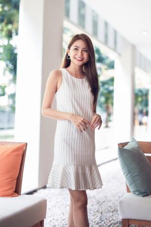 d436e48397d Jaycee Striped Dress in White