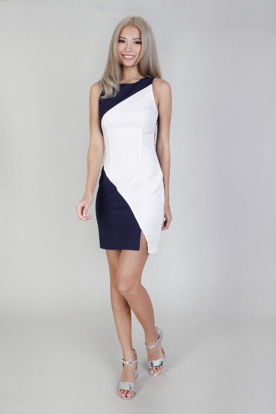 Two colour long dress