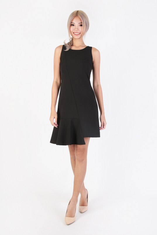 a879e812894c4 Adalyn Asymmetric Dress in Black