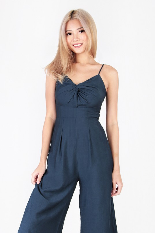 2112a47d41 Reverie Knot Jumpsuit in Navy