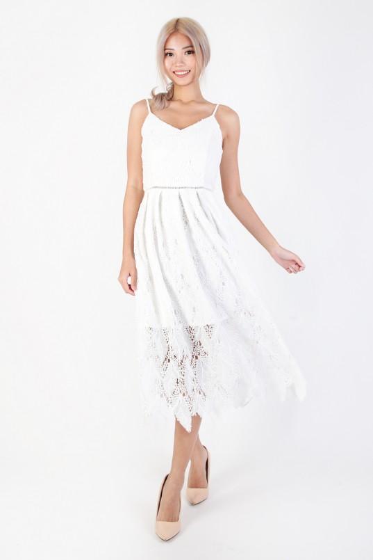 4a764c7a623 Keilyn Crochet Dress in White