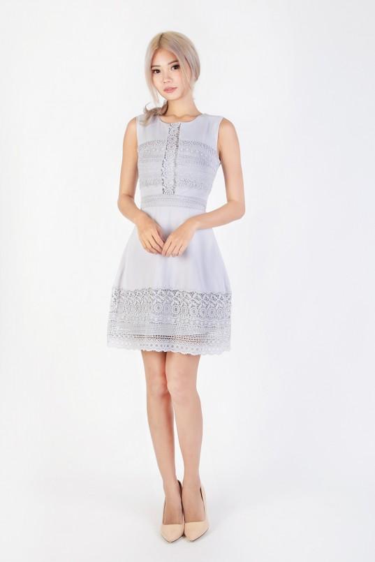 68b03d09490d Jerra Crochet Dress in Grey