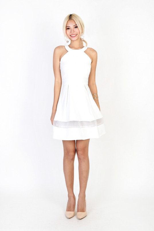 51e8781d03 Chelsea Organza Dress in White