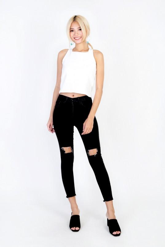 e76e0ed117b87 Veanne Drape Top in White