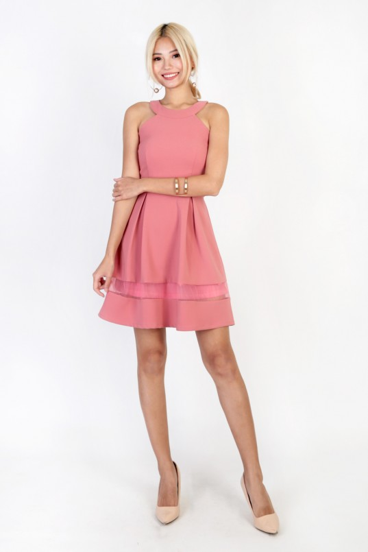 7a142c8f1b Chelsea Organza Dress in Rose Pink