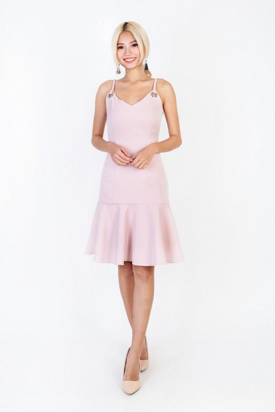 eb7f188bedd Alerie Flounce Dress in Pink
