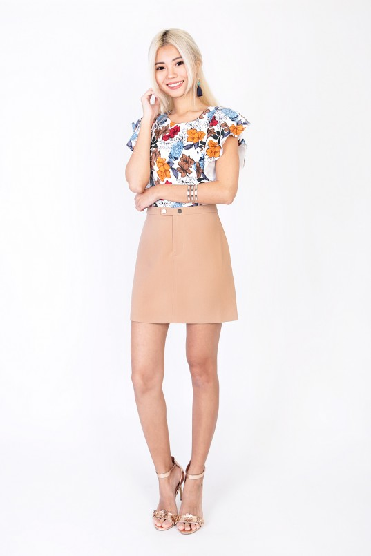fc3bcc9a6166b7 Lorraine Floral Top in White