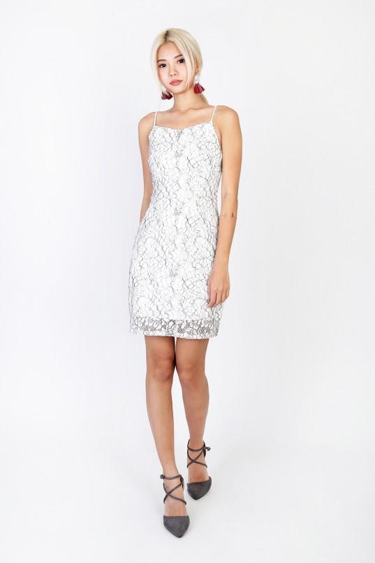 1c58f991f27c Esmie Lace Dress in White
