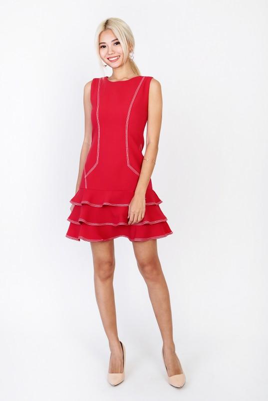 72a329674f3 Auden Flounce Dress in Red