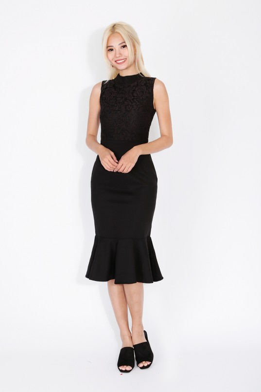 b88ebcc605 Sharpey Mermaid Midi in Black