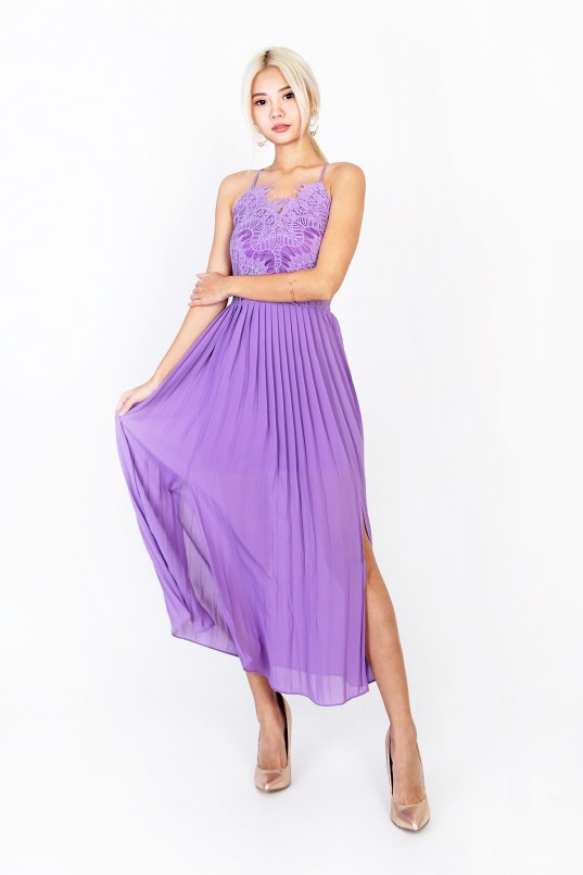 b85eec99a0 Sierra Lace Maxi Dress in Lavender