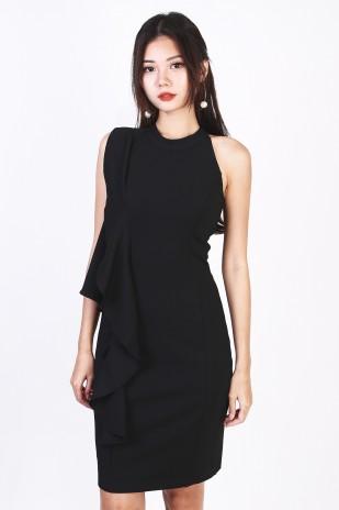 2717b03252 Ysabel Tweed Dress in Black - MGP