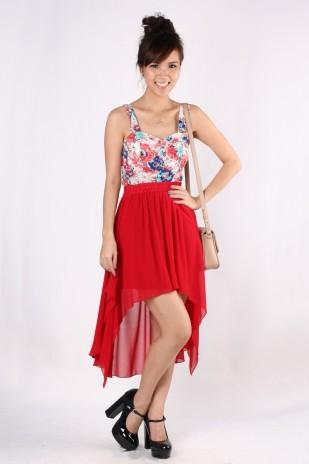Swinging Mullet Skirt in Wine Red