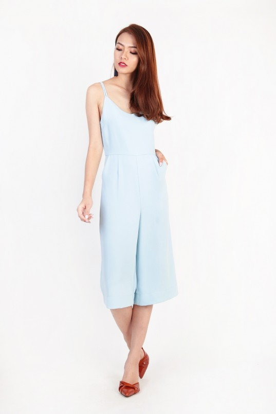 29843aa7 Lavina Double Strap Jumpsuit in Sky Blue