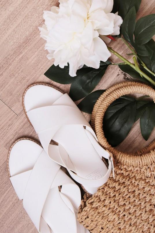 1d399ac84 Zianne Crisscross Sandals in Cream