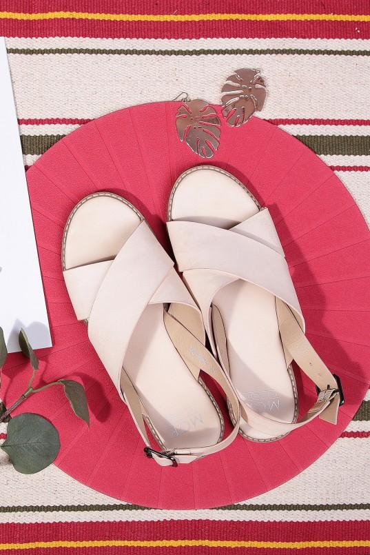 30ded997a Zianne Crisscross Sandals in Almond