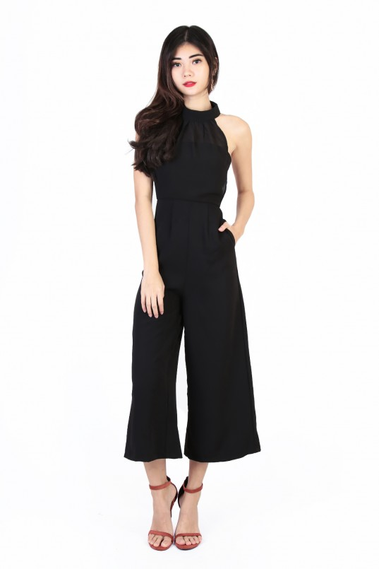 819a6d10d7b Aria Overlay Jumpsuit in Black