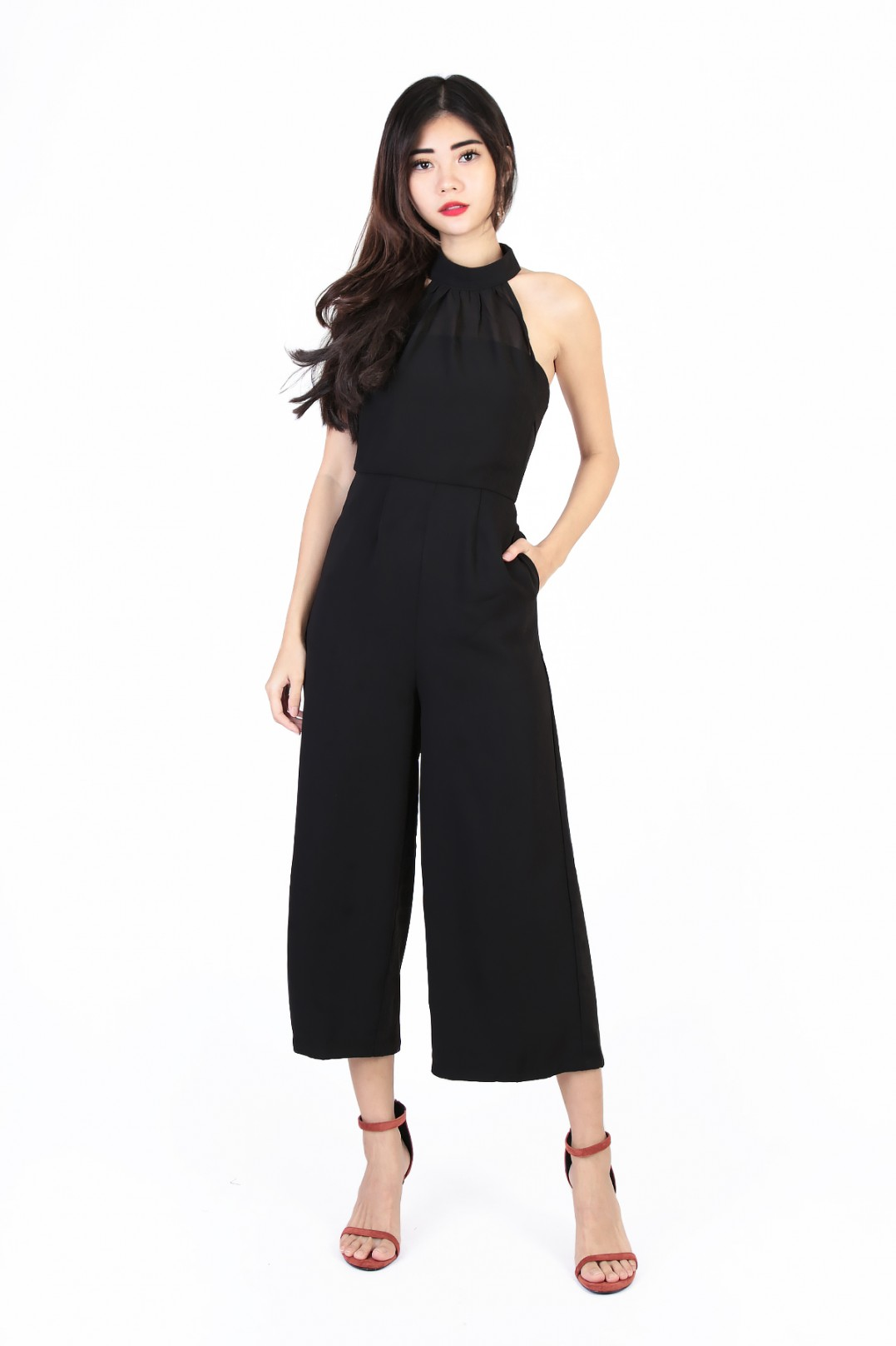 18a3430ae1a Aria Overlay Jumpsuit in Black - MGP