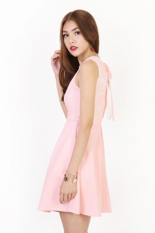 780e518152cd Fairfax Lace Dress in Blush Pink