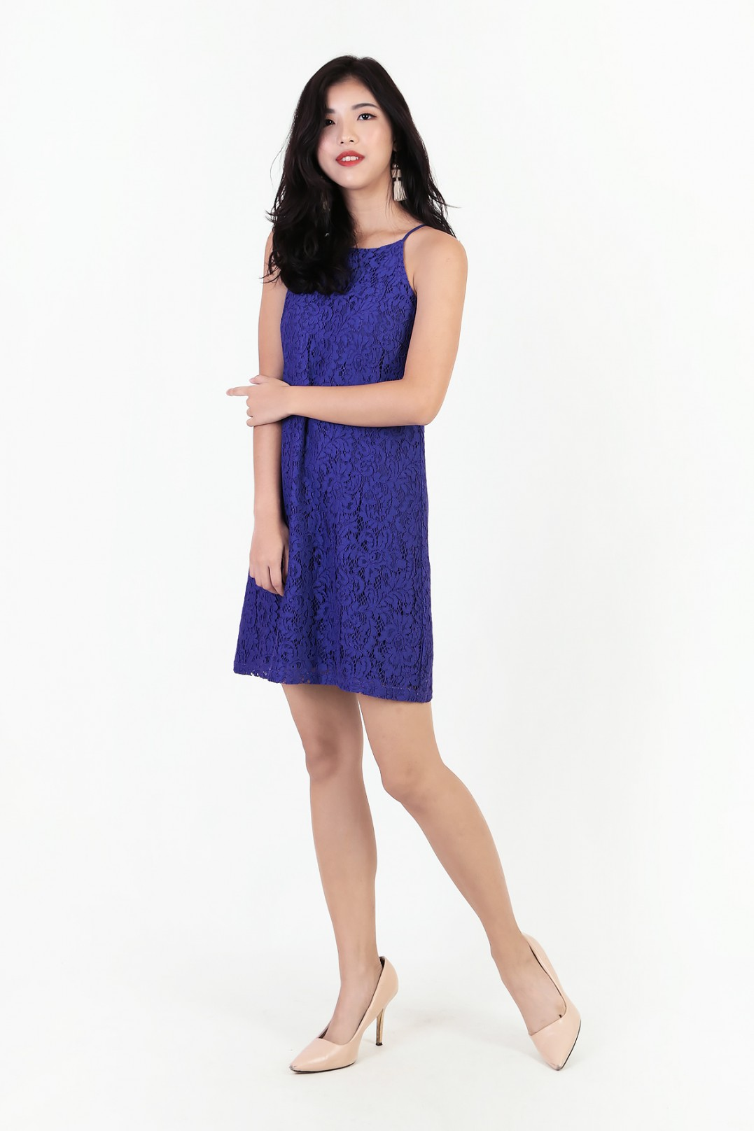 b6dce65898234 Joni Lace Swing Dress in Royal Purple - MGP