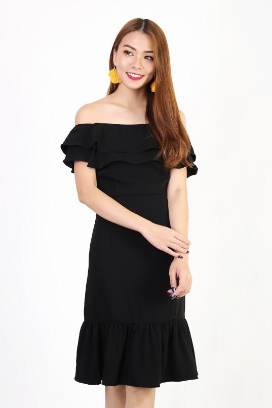 f907ba6cfb Rheya Off Shoulder Dress in Black