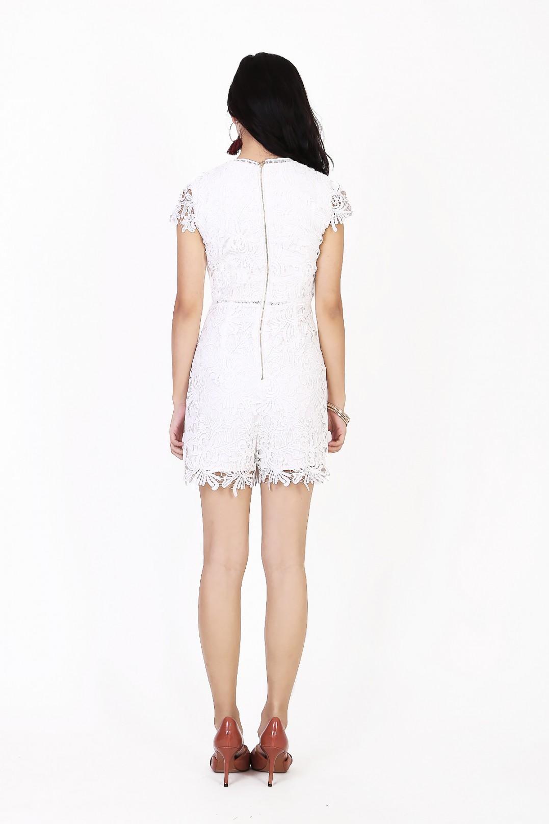2110ad8abd56 Keisha Crochet Romper in White - MGP