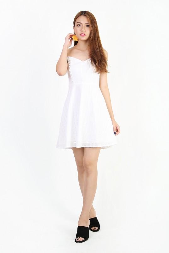2751431d0fe Chrissy Eyelet Dress in White