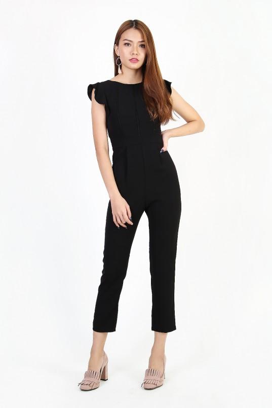 41b97a43c919 Natalia Flutter Jumpsuit in Black
