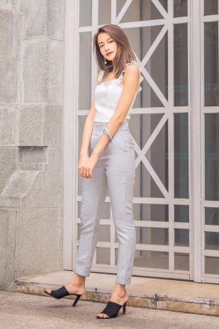 8b91cbea53f Ida High Waist Pants in Light Grey