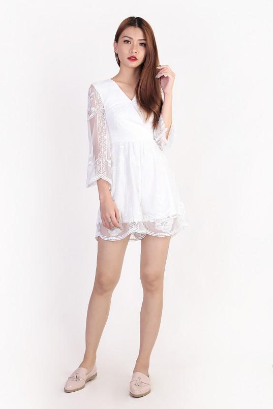 d8d55fed1b3d Alyssa Embroidery Romper in White