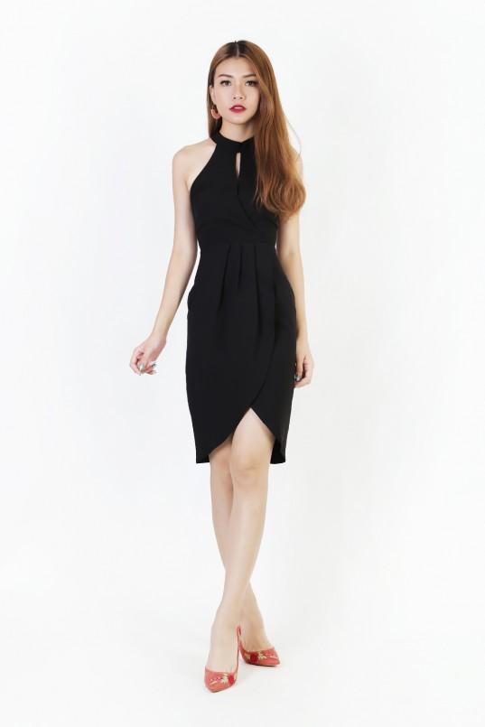 15d497cbef4 Monterey Overlay Dress in Black