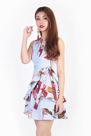 7b05096ab974 BACKORDERS  Aquilae Floral Dress in Sky Blue
