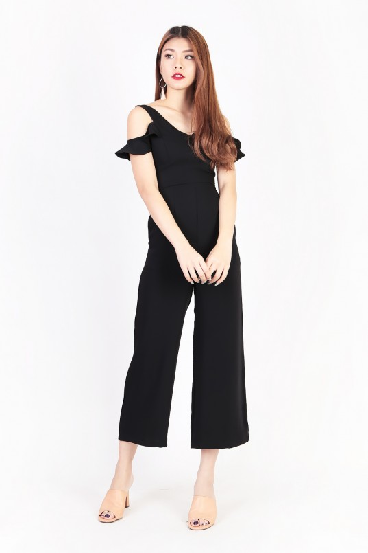 3924b9b1ccf Pippa Flutter Jumpsuit in Black