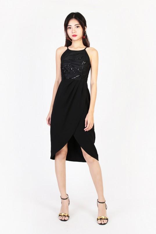 8e2fcb0166b3 Liliana Sequin Dress in Black