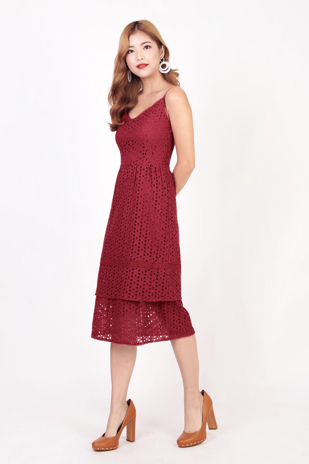 Breezy Eyelet Knit Long Nightgown by Dreams & Co.®| Plus