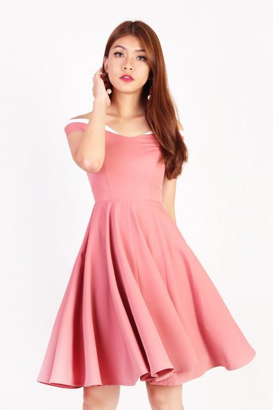 77d65c8c89e0 Viana Colourblock Dress in Pink