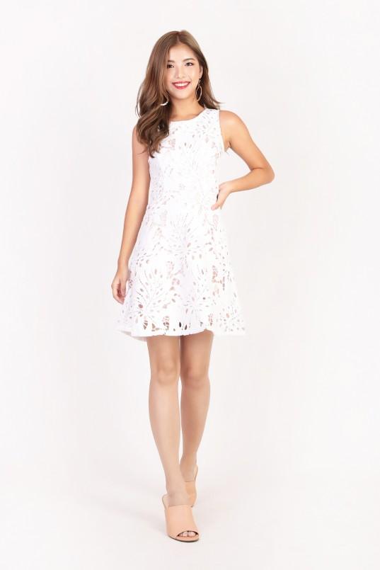 495960080bd Samara Crochet Dress in White