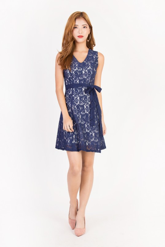 4fe0ae60 Gianna Lace Dress in Navy