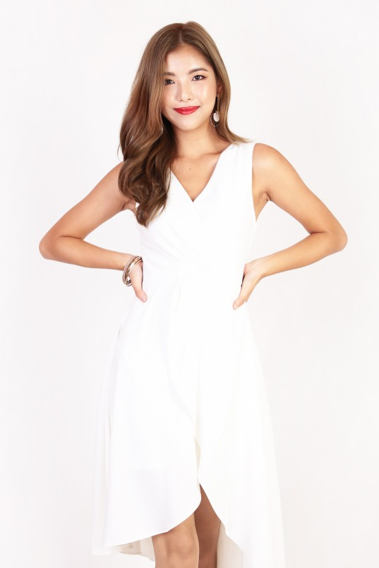 6cf0322f4a6fc1 Athalia Overlay Dress in White