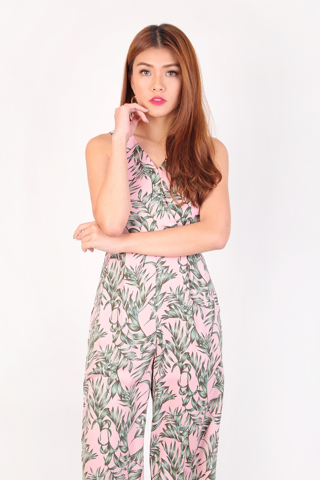 83a9a19e5c4 Kynlee Tropical Jumpsuit in Pink - MGP