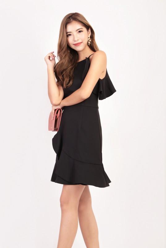 b787b0a731 Amberly Ruffle Dress in Black