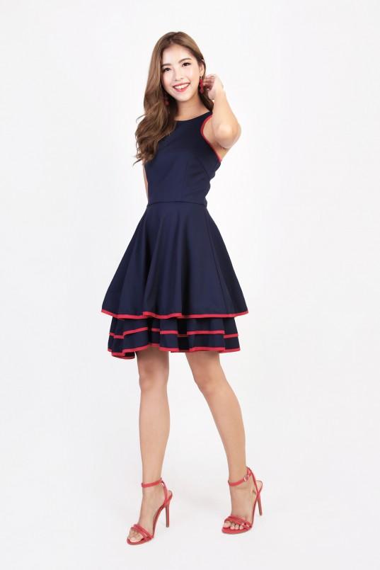 4e59d9c3e26 Adlucia Tiered Dress in Navy