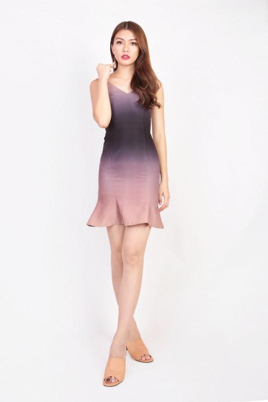 11f8b791df Elise Ombre Dress in Auburn