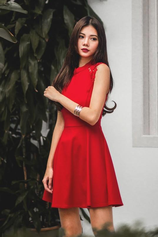 c9570f18d2 RESTOCK  Min Crochet Dress in Red